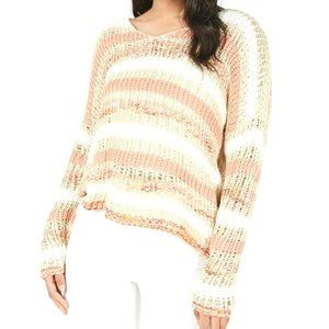 American Rag Juniors' Striped Open-Knit Sweater